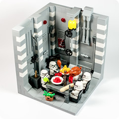 Banquet on the Death Star... (Artamir ) Tags: toy starwars lego pentax stormtrooper sciencefiction banquet jouets moc jugete stormie