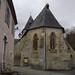 Abside gothique de St Sylvestre, Ste Colome, vallée d'Ossau, Béarn, Pyrénées Atlantiques, Aquitaine, France.
