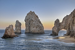 Archway Angel (El Justy) Tags: ocean travel light sunset vacation seascape beach nature water birds rock reflections landscap