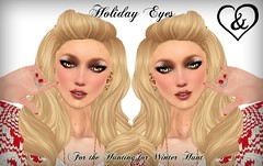 Holiday Eyes (Airedine) Tags: christmas winter for eyes hunting sl fantasy secondlife unisex adore abhor airedine adoreabhor adoreandabhor atooly huntingforwinter