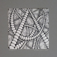 string 28 (shebicycles) Tags: pen pencil tile doodle tps zentangle string28