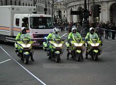 Met Police BMW R1200rt's (kenjonbro) Tags: uk england london westminster march rally protest trafalgarsquare parade demonstration bmw charingcross sw1 bluelights metropolitanpolice r1200rt kenjonbro fujifilmfinepixhs10 keepfrackingoutoftheuk