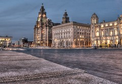 The Liver Buildings (Raven Photography by Jenna Goodwin) Tags: architecture night liverpool photography most popular raven hdr 2012 liverbuildings
