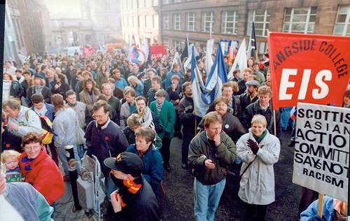 Anti Racism Demo Glasgow 1990s