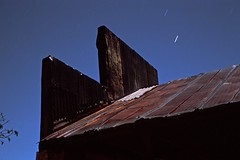 Tin Roof Under Moonlight - Farmhouse Series (Baisao) Tags: longexposure nightphotography film architecture farmhouse 35mm provia100f nightshooting nocturn meterless nometer leicam6wetzlar 50mmsummicronveriv