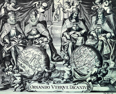 Antique Maps (divinumphoto) Tags: sepia map titlepage antiquemapsoftheworld philipkilian c1680