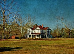 Abandoned Nash County House on Its Hilltop:  Aventon, Nash County, North Carolina (EdgecombePlanter) Tags: abandoned colors rural nc sad decay oldhouse ruraldecay stately rurallandscape classicalrevival