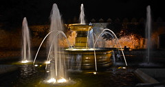 Avila (nebulous 1) Tags: city water night lights town spain nikon espana fountains avila nebulous walledtown