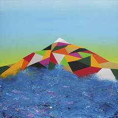 Ship wreck in front of The Teide. 150 x 150 cm. Acrylic on canvas. 2011