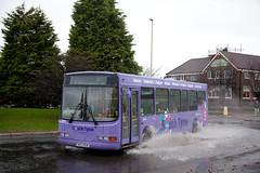 SSH_204 (Stuart's Transport) Tags: bus flood 5 wright daf gonortheast sb120 8244 southtyne na52buw