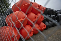Mussel Buoys (peter burge) Tags: graphic redblack musselfarming peterburge