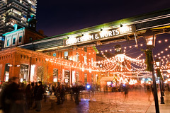Toronto Christmas Market (Ernie Kwong | Photography) Tags: christmas longexposure nightphotography toronto festival december christmaslights distillery f28 week45 week48 holidayseason 2470mm gooderhamworts d700 52weeksproject torontochristmasmarket