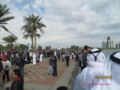 Doha Corniche in National Day 2012 - Qatar (Feras Qaddoora) Tags: festival december day state national corniche 18 2012 doha qatar