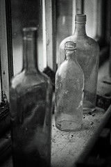 Still Life bottled! (Macro light) Tags: nationaltrust calkeabbey pottingshed derbyshire ticknall bottles glass