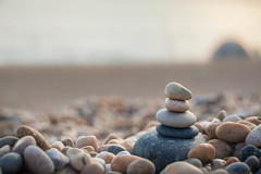 Stoned (NVOXVII) Tags: pebbles beach pebbletower depthoffield dof nikon coast dusk dorset stones chill uk summer tones outdoor