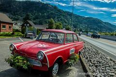 Red Trabant in Moi (DSC_9133 vk) (Villi Kristjans) Tags: vilmundur vk villi vkphoto kristjansson kristjans kristjns kristjnsson digital d3200 nikon norway noregur norge norsk color colour summer rogaland trabant red car bil