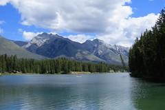 Johnson Lake (Patricia Henschen) Tags: banff nationalpark park parcs parks canada lake johnsonlake mountains canadian rockies rocky northern clouds