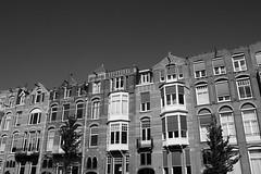 Blocks (dani_bienes) Tags: amsterdam holanda netherlands city houses blocks negro black white blanco street vecindario europa art