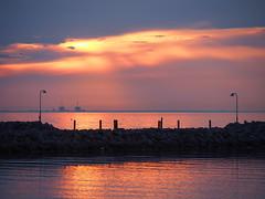 Copenhagen 2016 (hunbille) Tags: denmark amager amagerstrandpark strand strandpark beach kastrup sunrise dawn summer bath oresund resund water sea kbenhavn copenhagen barseback barsebck