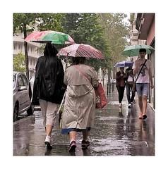 Jour de pluie (Rainy day) (busylvie) Tags: people street rain parapluies