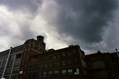 Ominous (kstetner) Tags: cleveland flea market ominous clouds brick building