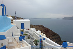 Santorini (xplorengo) Tags: greece griekenland griechenland grce hellas oia santorini island eiland colorful blauw blue bleu volcanic volcano vulkaan vulkanish mediterranean