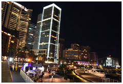 Night shot of Beirut's elite hangout Zeytounah Bay (Mohamed Essa) Tags: country lebanon beirut levant middle east north africa business