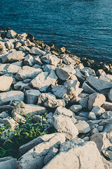 White Rocks (poborny) Tags: germany deutschland canon eos 750d rhine whine water sunset blue rock rocks white green mainz