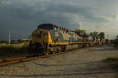CSX U780-28 at SGC 638.7 (travisnewman100) Tags: csx u78028 coal unit train sgc cartersville subdivision railroad freight ge ac44cw yn2 ns norfolk southern c449w wa atlanta division