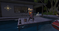 A wish for absent friends (Teddi Beres) Tags: second life sl absent friends houseboat fishing poem sad blonde girl dock water