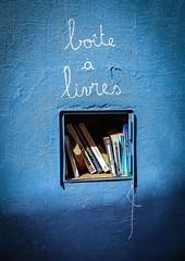 Self Service (Bob Wit) Tags: sonydt1650mn sonyalpha77 boite aux livres books box mur wall blue