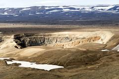The small caldera of Askja volcano in a ray of sunshine (Hubert Streng) Tags: askja mountain volcano crater iceland caldera dreki