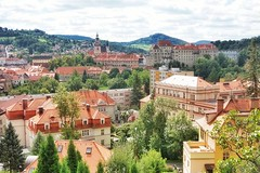 esk Krumlov panorama (beyondhue) Tags: esk krumlov town vltava river south bohemia southern czech republic panorama red roof beyondhue travel