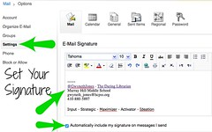 Set_Email_Sig2 (The Daring Librarian) Tags: outlook signature email ipad mobile