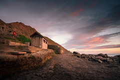 Filey Brigg 26/07/2016 (Matthew Dartford) Tags: cliffface sidelight fileybrigg northyorkshire beach beachhut bokeh breakinglight cliff cliffs cloud coast coastal curve england filey goldenhour happisburgh hills landscape leadinglines ocean panorama sea sky sunrise surf tide uk wet wide wideangle yorkshire