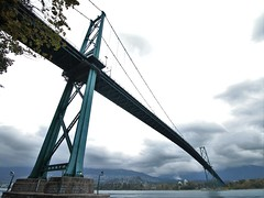Lions Gate Bridge - Vancouver (phil_king) Tags: bridge british burrard columbia crossing estuary first gate inlet lions narrows park stanley suspension vancouver water canada