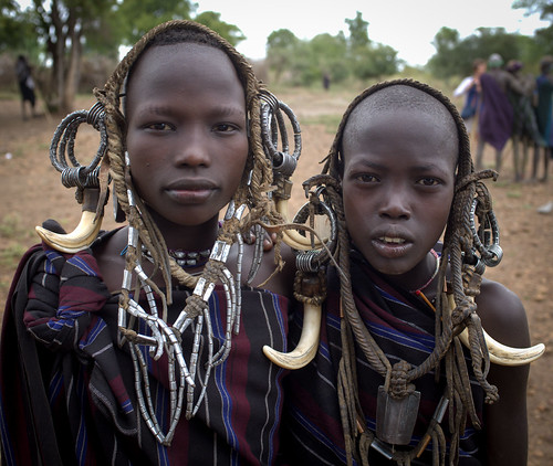 Mursi Girls, Ethiopia