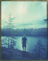 Lapakisto (Maija Karisma) Tags: polaroid littlebitbetterscan pola instant graflex growngraphic 59 expiredfilm peelapart sheetfilm 4x5 nature largeformat lake