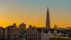 Mont des Arts #3 (Thierry Hudsyn) Tags: sony a6000 1650oss montdesarts sunset couchdesoleil brussels bruxelles hoteldeville basiliquedusacrcoeurdekoekelberg cityscape landscape
