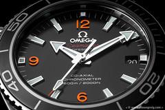 Time for a Closeup (Simon Greig Photo) Tags: closeup dial hand macro omega orange planetocean seamaster studio swiss time timepiece watch
