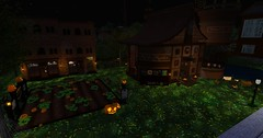 Halloween Pumpkin Farm 2016 (Punkerella Summers) Tags: halloween secondlife sl attractions chimericarts chimericartsfashions masks pumpkinpatch