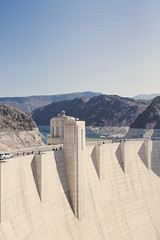 Hoover Dam (jimbob195) Tags: las vegas hoover dam water america american flag starsandstripes wall sky mountain mountains arizona nevada energy hydro stateline nevadatime arizonatime generators building sheer high vast huge silhouette beautiful black stars stripes canon 600d 24to105mm 24105mm