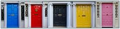 Doors of Dublin (ArmyJacket) Tags: dublin ireland colors blue red black yellow pink doors city