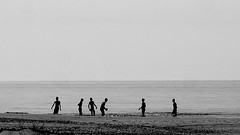 playing (Darek Drapala) Tags: panasonic poland polska panasonicg5 baltic bw blackwhite blackandwhite sea seashore seascape nature sand