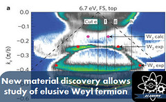 New material discovery allows study of elusive Weyl fermion (HopeGirl587) Tags: allows discovery elusive material study weyl
