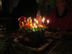 Halloween Surprise BD Party (supe2009) Tags: friends party food halloween cake skeleton fun maria joy smiles nelly parties happiness games celebration charlie celebrations carol kathy surprise cecilia sue witches coffin julieta bats brooms