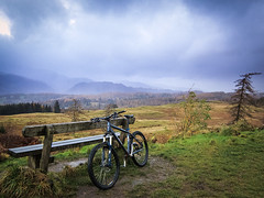 6th November 2012 (Rob Sutherland) Tags: uk england mountain mountains cold wet rain bike nationalpark lakes lakedistrict mountainbike cumbria fells mtb raining coniston fell grizedale hawkshead northfacetrail ldnp