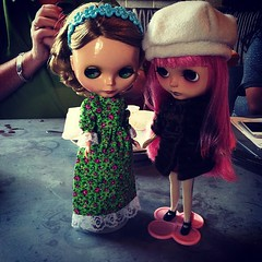 Blythe Meet (TuSabesBlythe) Tags: mandy november me square dallas dolls meetup charlie squareformat blythe 2012 chickenscratch blythemeetup iphoneography dallasmeetup november2012 instagramapp xproii uploaded:by=instagram