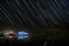 Star Trails at the Blue House (MurrayH77) Tags: star nc trails 7d obx stunningskies mygearandme mygearandmepremium mygearandmebronze
