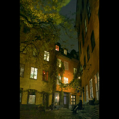 Old Town Stockholm (Mikael Jeney) Tags: street night stockholm colorphoto oldtownstockholm foveonsensor mikaeljeney sigmadp2s mikaeljenei